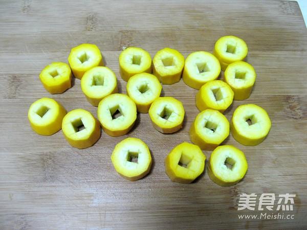 香蕉西葫芦小盆栽的简单做法