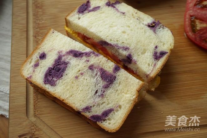 紫薯面包的制作方法