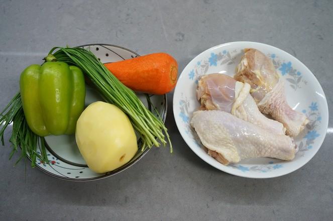 鸡腿土豆抻面的做法大全