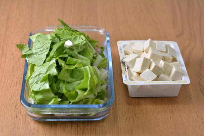 青菜豆腐虾皮汤的做法图解