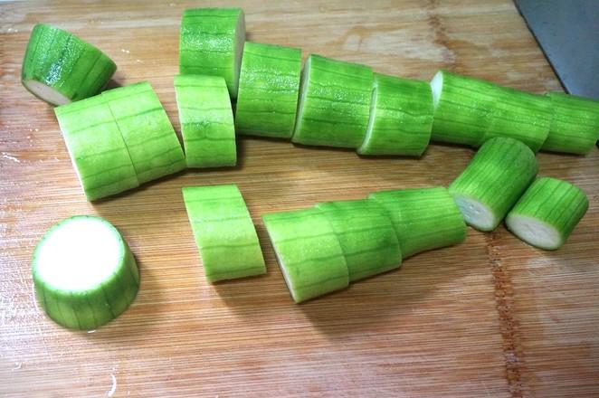 金蒜蒸丝瓜的做法图解