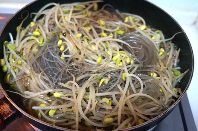 肉末黄豆芽炒粉条怎么煮