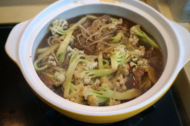 菜花粉条砂锅煲怎么煮