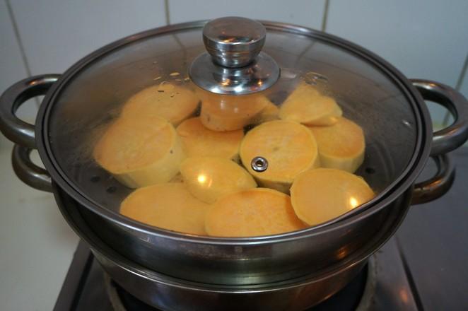 红薯糯米豆沙饼的家常做法