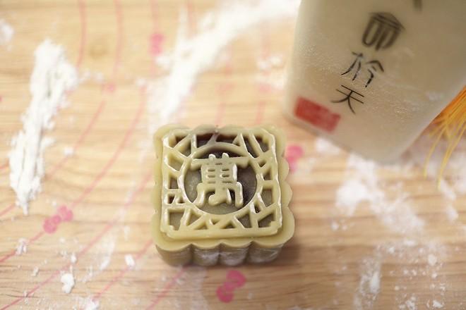 白莲蓉&红豆沙蛋黄月饼的制作大全