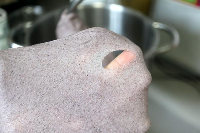 黑米花环奶酪早餐面包的家常做法