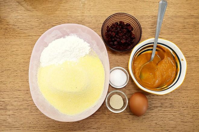 南瓜玉米蔓越莓煎糕的做法大全