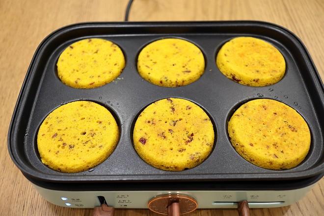 南瓜玉米蔓越莓煎糕怎样做