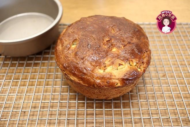 免揉苹果肉桂面包的制作