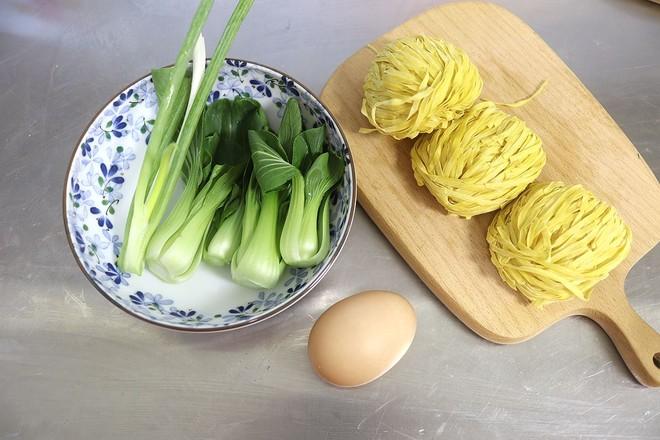 鸡蛋青菜汤面的做法大全