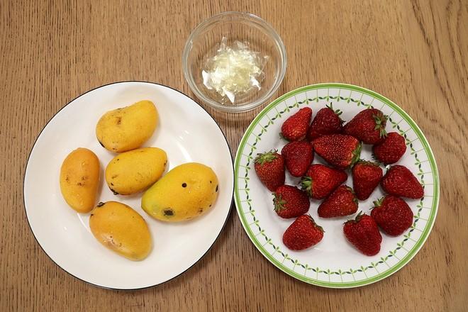 水果冻牛奶布丁的步骤