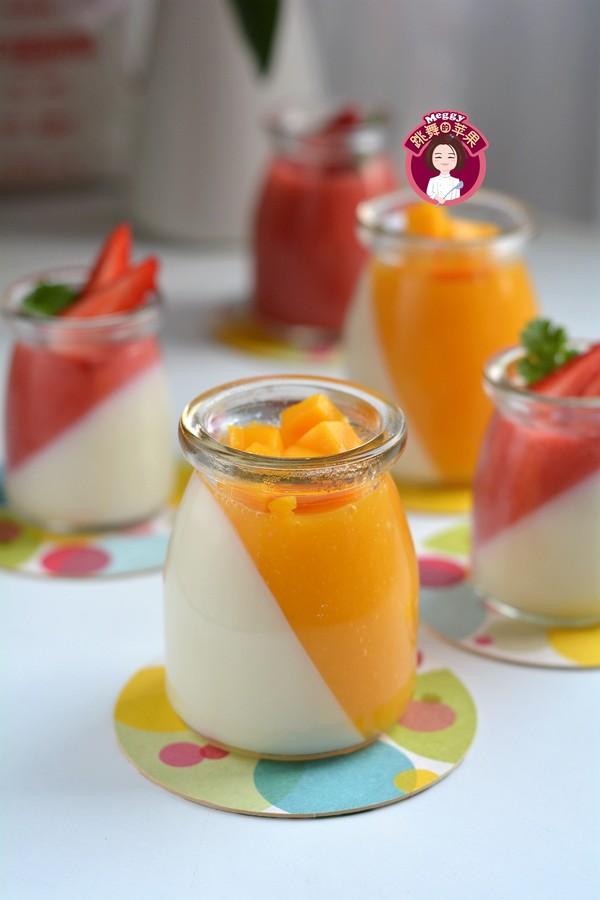 水果冻牛奶布丁成品图
