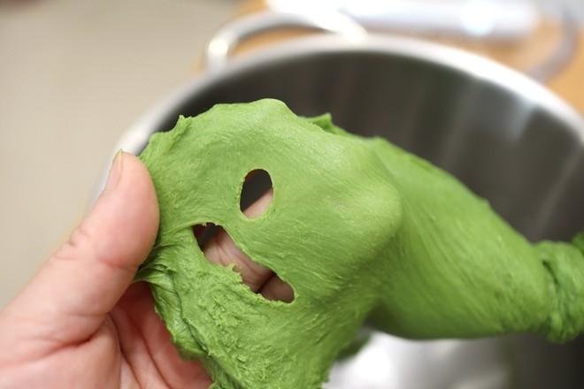 抹茶红豆吐司的做法图解