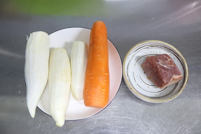 肉片胡萝卜茭白的做法大全