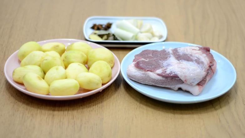 五花肉烧小土豆的步骤