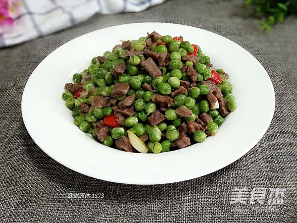 鲜豌豆牛肉粒成品图