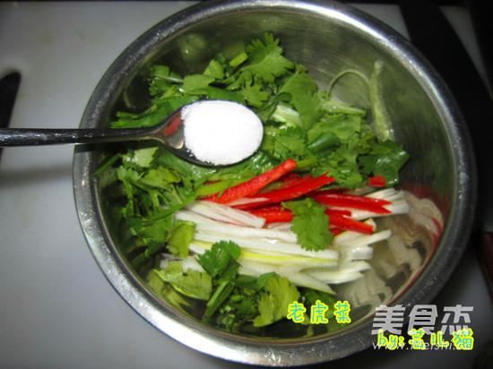 老虎菜的简单做法