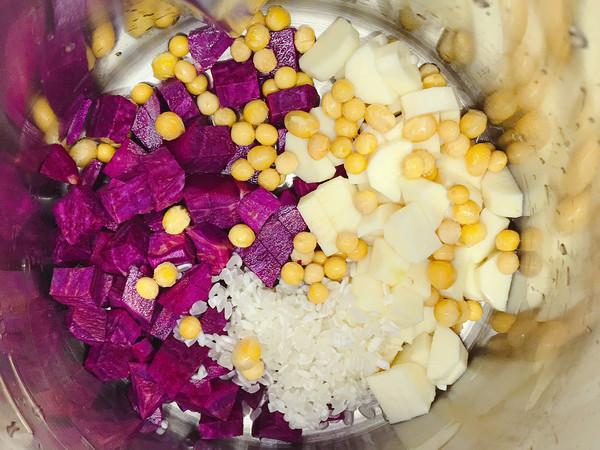紫薯山药米糊的家常做法
