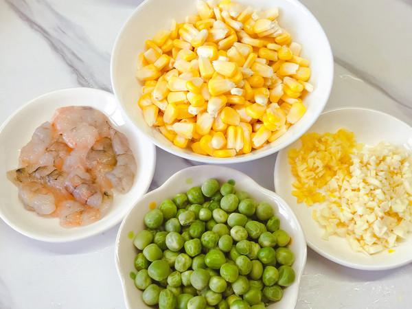 玉米豌豆炒虾仁的做法图解