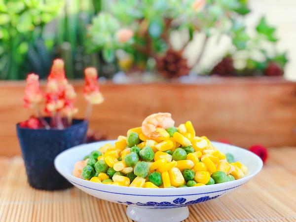 玉米豌豆炒虾仁怎么煮