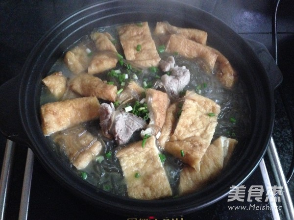 红薯粉丝豆腐煲怎么煮