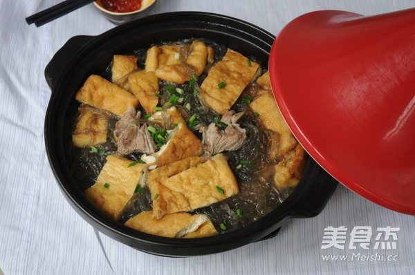 红薯粉丝豆腐煲成品图