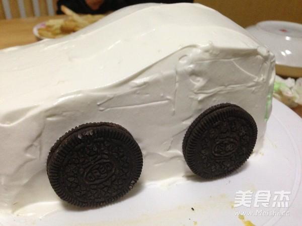 汽车生日蛋糕怎么煸