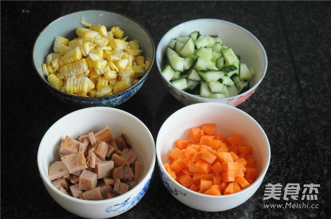 午餐肉炒蔬菜粒的做法大全