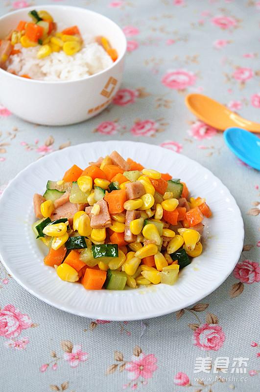 五彩蔬菜粒怎么炖