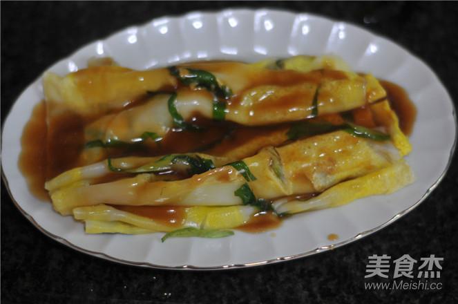 青菜鸡蛋肠粉怎么炒