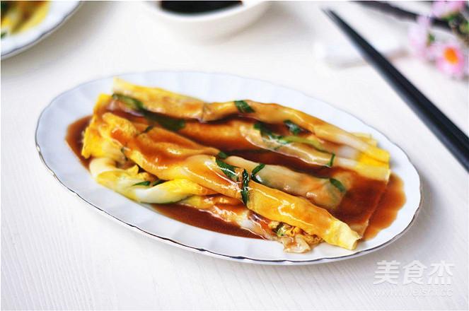 青菜鸡蛋肠粉怎么煮