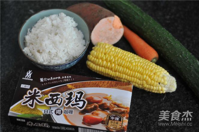 五彩咖喱炒饭的做法大全