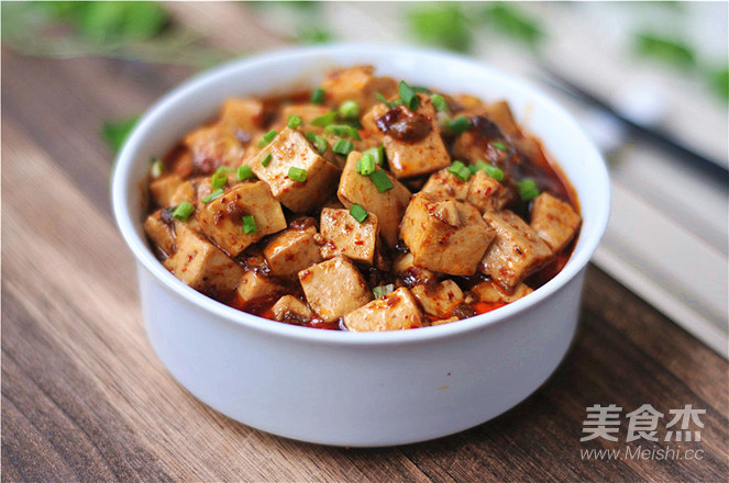 香辣豆腐成品图