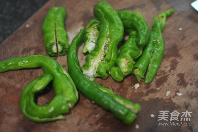 黄豆豉爆炒螺丝椒的做法图解