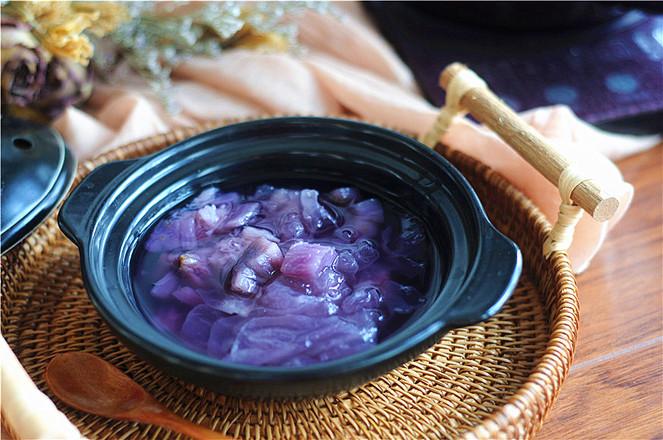 紫薯银耳羹怎么炒