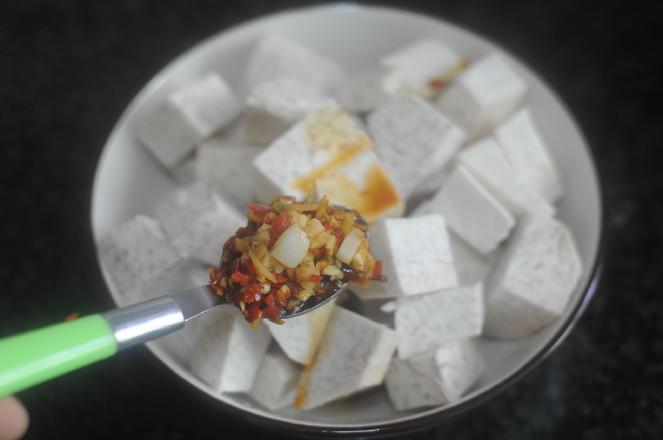 剁椒蒸芋头怎么吃