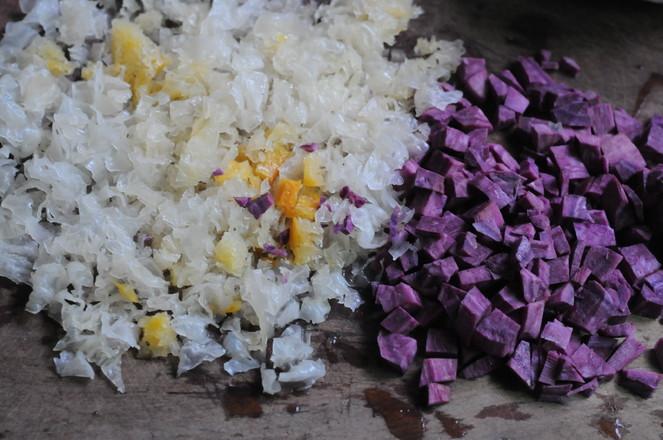 银耳紫薯羹的做法图解