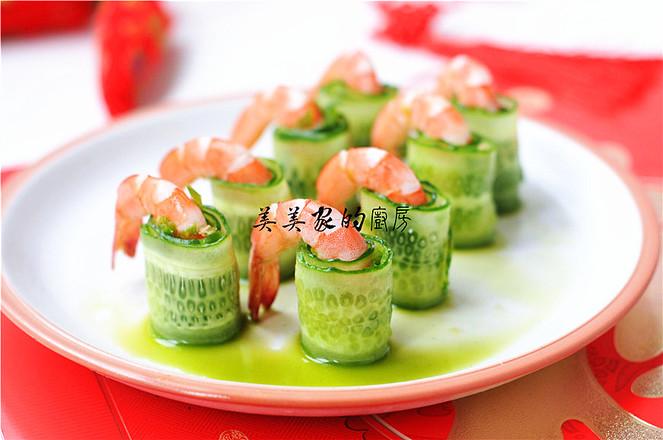一帆风顺——黄瓜虾卷怎么做