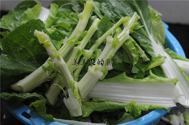 白菜苔炒冻豆腐的家常做法