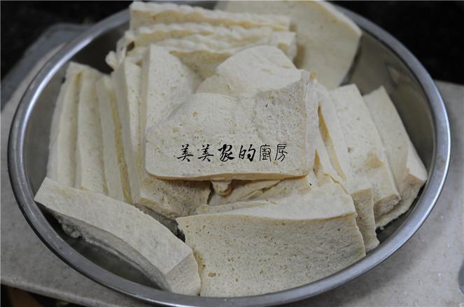 白菜苔炒冻豆腐的做法图解