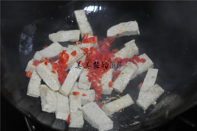 白菜苔炒冻豆腐怎么煮