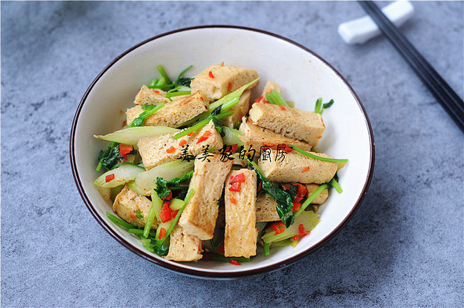 白菜苔炒冻豆腐怎样煸