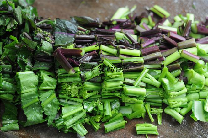 蒜香柳叶红菜苔的做法图解