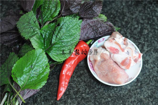 紫苏炒猪颈肉的做法大全
