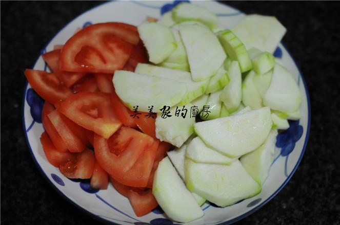西红柿丝瓜汤的做法图解