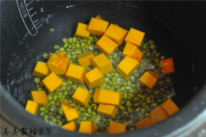 绿豆炖南瓜的步骤