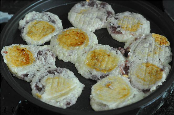 水晶玉米紫薯饼怎么炖