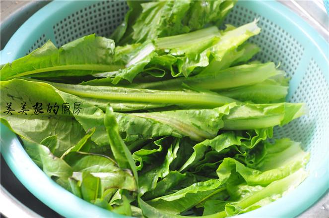 蒜香开胃油麦菜的做法图解