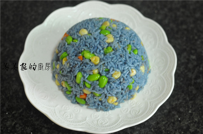 蝶豆花炒饭怎么煮