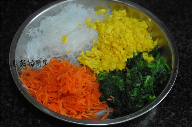 菠菜玉米团子的步骤
